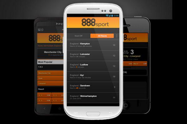 Anmelden und Wetten über die mobile App läuft bei 888sport problemlos. (Quelle: 888sport)