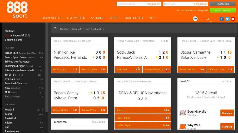 888sport – Gewinn, Limit, Mindesteinsatz und Maximalgewinn