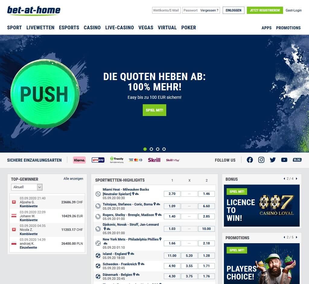 bet-at-home - Startseite