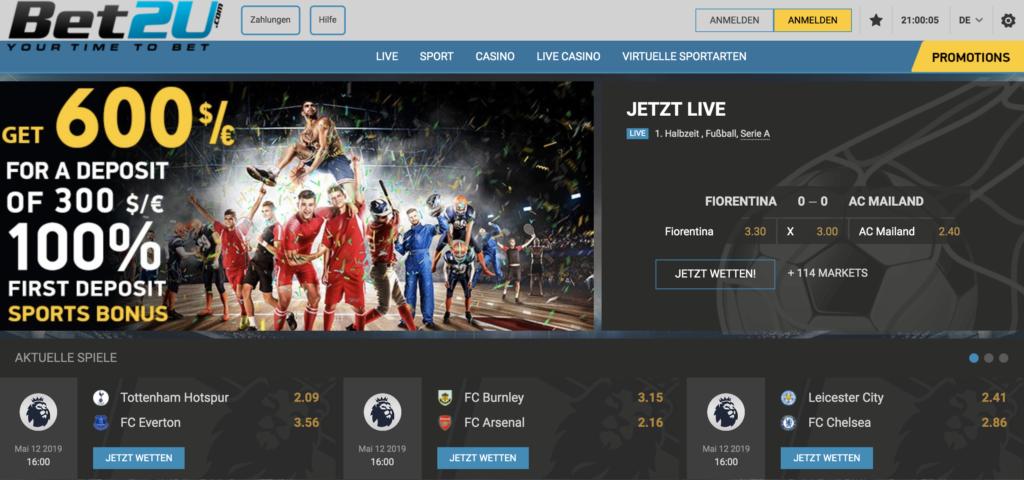 Bet2U Sportwetten Erfahrungen – Test & Bewertung 2021