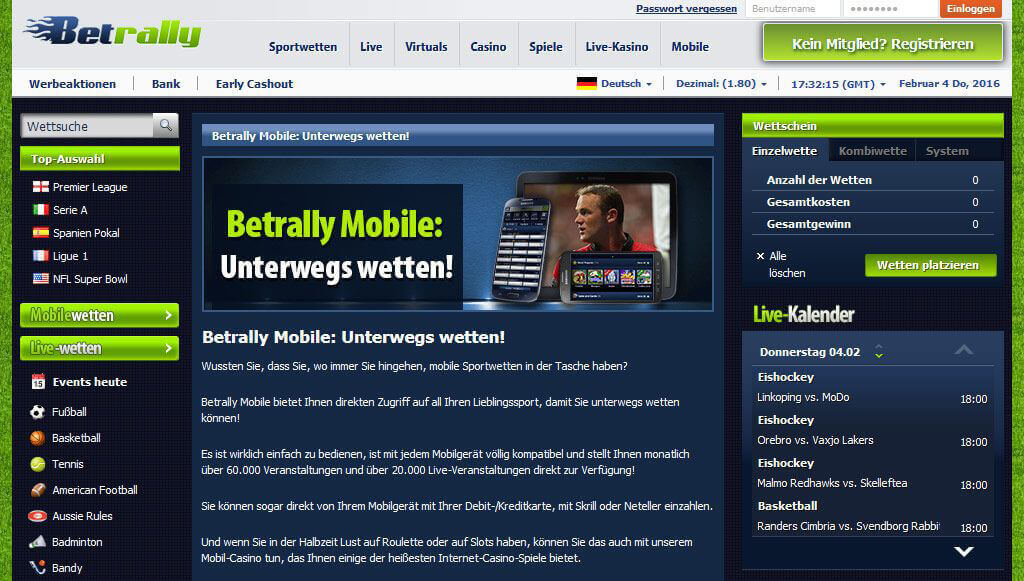 Betrally mobile App für iPhone, iPad und Android