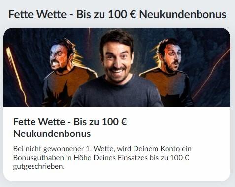 Bildbet 100€ Neukundenbonus