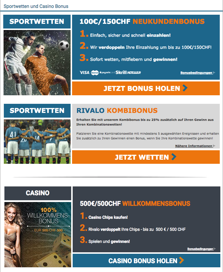 Rivalo Sportwetten – Erfahrungen und Bewertung 2018
