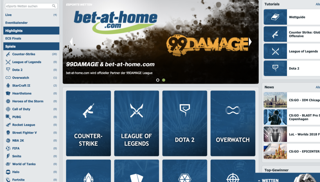Bet-at-home eSports Erfahrungen und Bewertung 2019 – Unser Test
