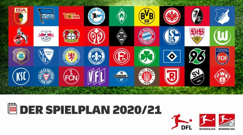DFL - Wappen der 36 Vereine der 1. und 2. Bundesliga