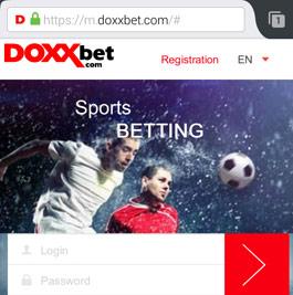 DoxxBet Mobil Anmeldung
