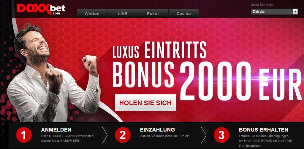 DOXXbet – die besten Infos zu Bonus, Bonusbedingungen, Gutschein und Gratiswette!
