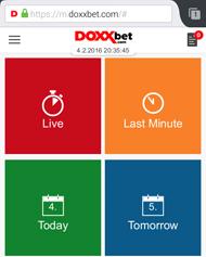 DoxxBet Mobil Wettangebot (Quelle: DoxxBet)