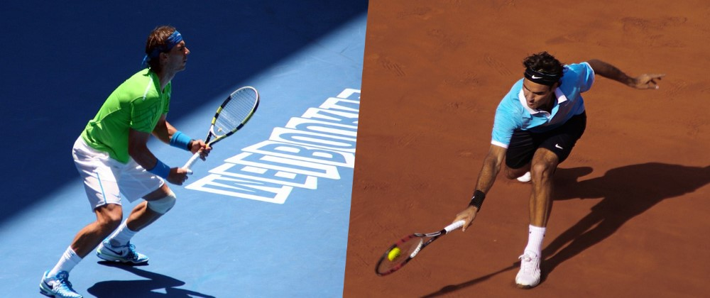 Rafael Nadal und Roger Federer