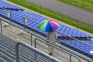 Regen im Stadion