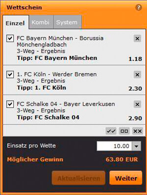 gamebookers Systemwetten & Kombiwetten: Quoten vervielfachen