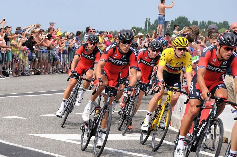Gelbes Trikot bei der Tour de France