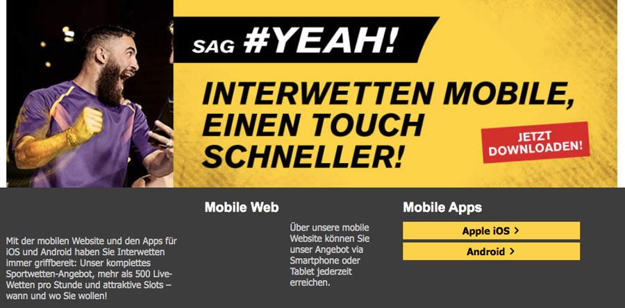 Interwetten App Website