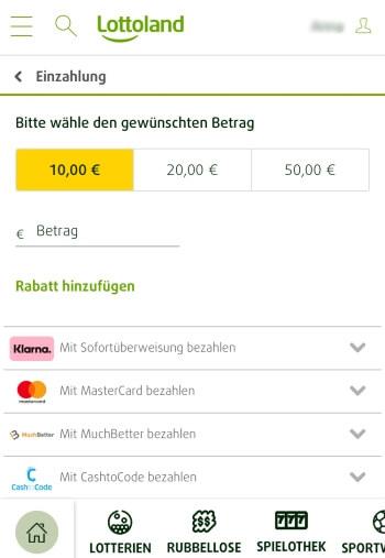 CashtoCode – Mobile App von Lottoland