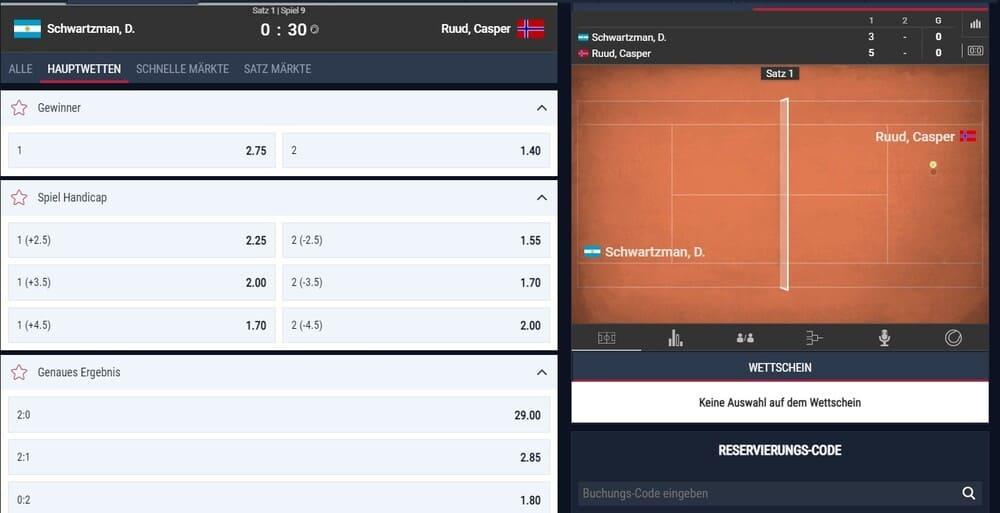 Rabona Tennis Wettquoten - ATP Madrid Wetten