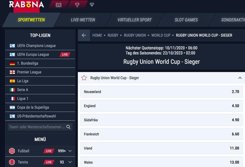 Rugby Wetten Rabona