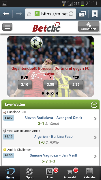 Betclic Sportwetten App für iPhone, iPad und Android