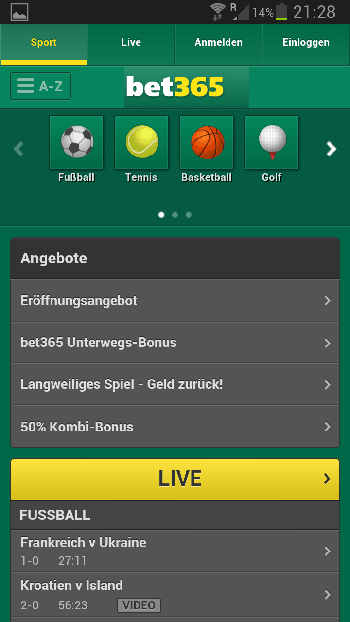 bet365 mobile App für iPhone, iPad & Android + Download