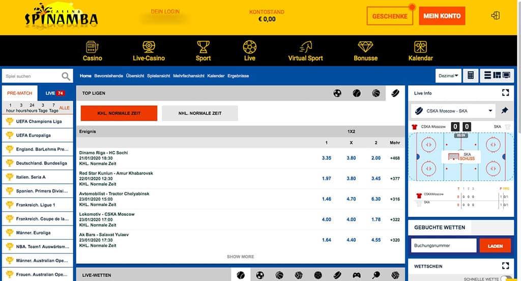 Spinamba Sportwetten Erfahrungen – Test & Bewertung 2021