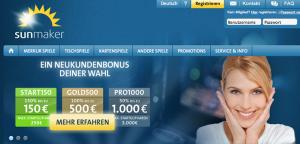 Sunmaker – die besten Infos zu Bonus, Bonusbedingungen, Gutschein und Gratiswette!