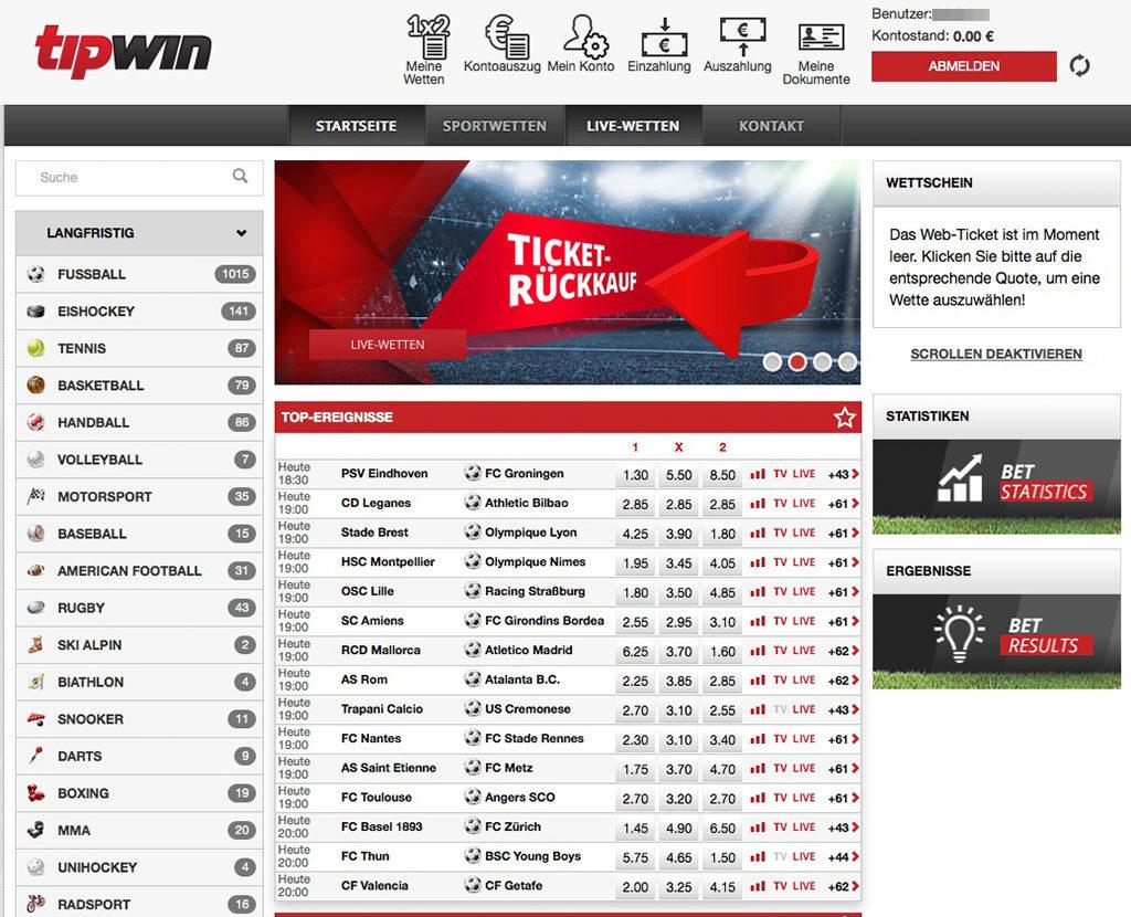 Tipwin Sportwetten Erfahrungen – Test & Bewertung 2021