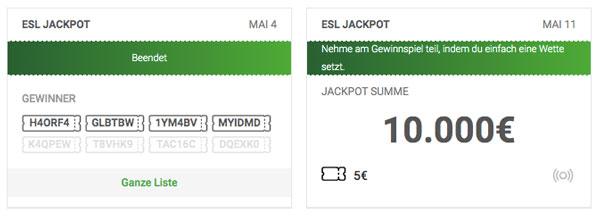 eSport Wettbonus Jackpot Unibet