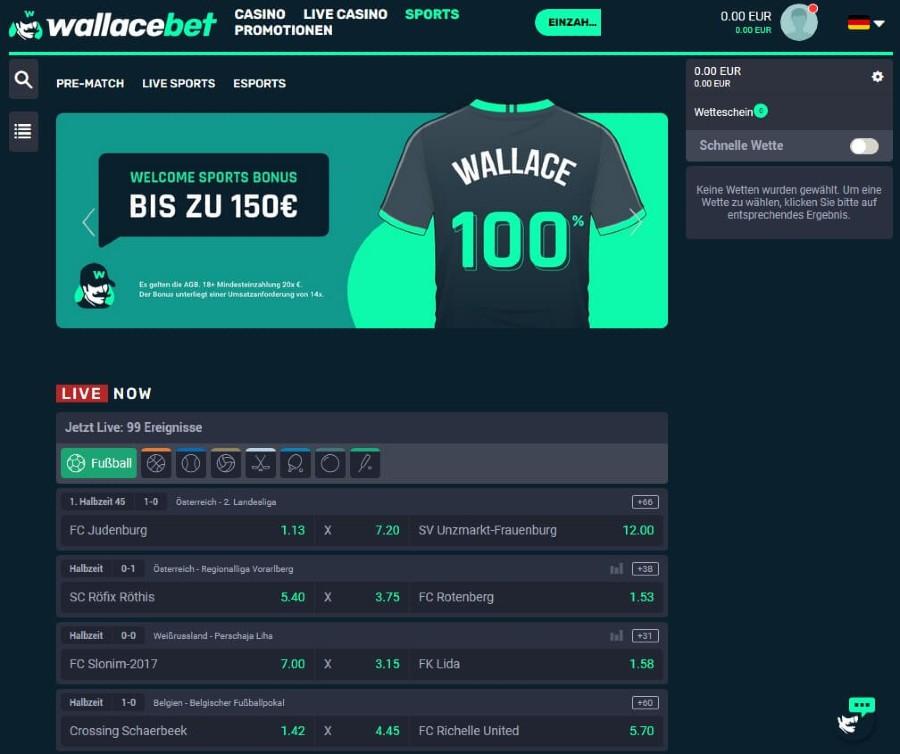 Wallacebet Sportwetten Erfahrungen – Test & Bewertung 2021