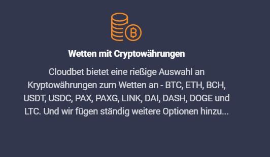 Wetten mit Kryptowährungen bei Cloudbet - Dogecoin Wetten