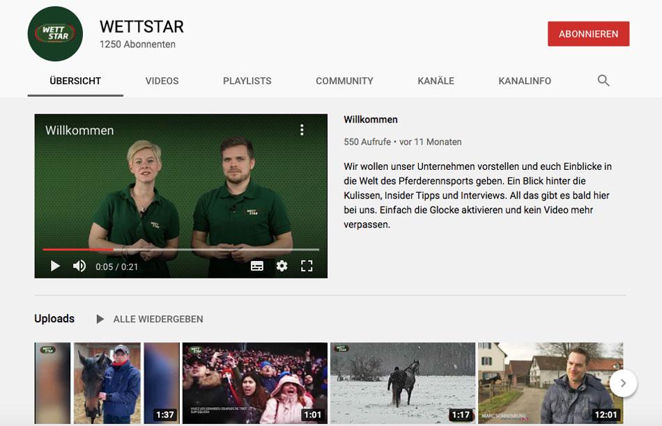 Youtube Kanal Wettstar