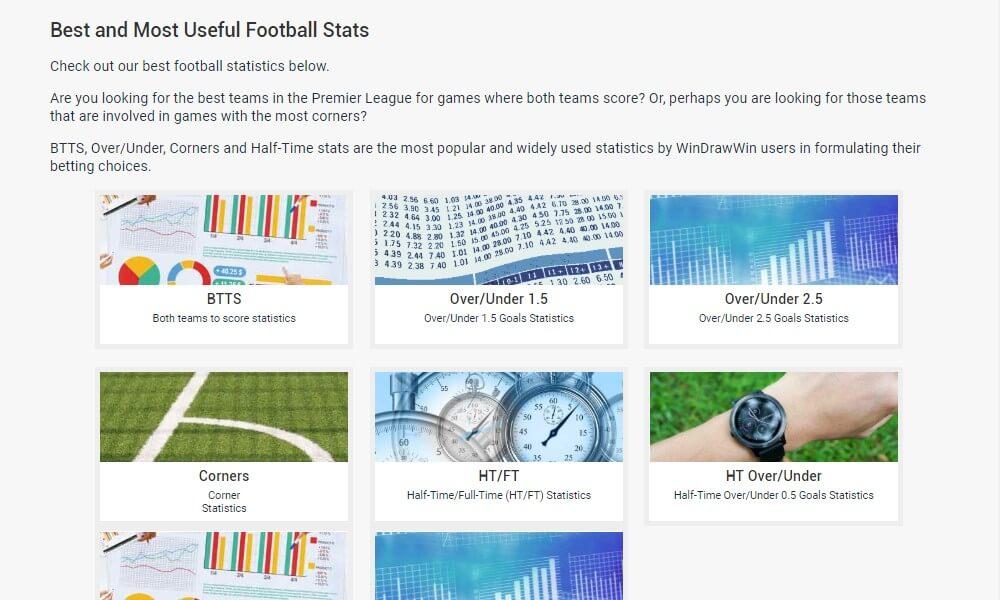Windrawwin - Statistikbereich – beste Fußball-Analyse-Seite