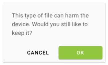 Den Download der HPYBET bestätigen