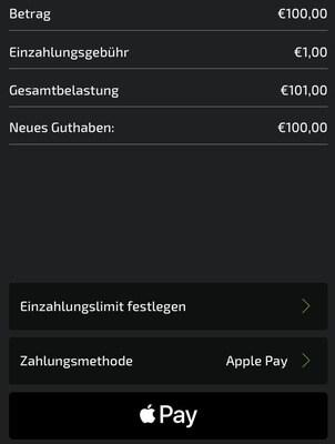 Apple Pay Mobilebet Einzahlung