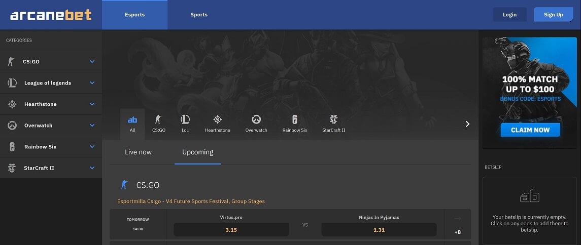 Arcanebet eSports Sportwetten Erfahrungen – Test & Bewertung 2021