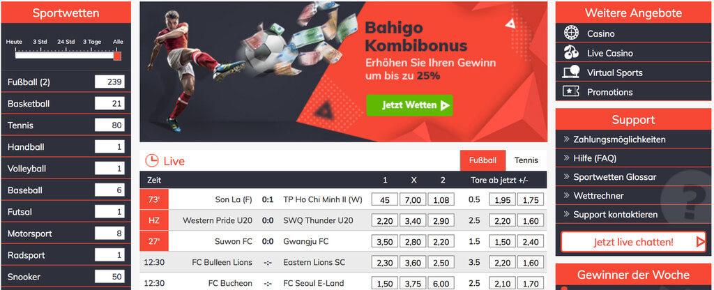 Bahigo Sportwetten Erfahrungen – Test & Bewertung 2021