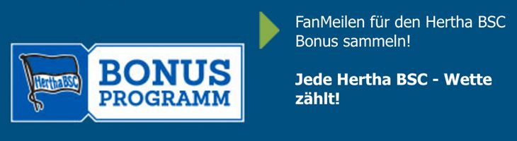 FanMeilen-Bonus Hertha BSC bei bet-at-home.com (Quelle: bet-at-home.com)