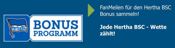 FanMeilen-Bonus Hertha BSC bei bet-at-home.com (Quelle: bet-at-home.com)