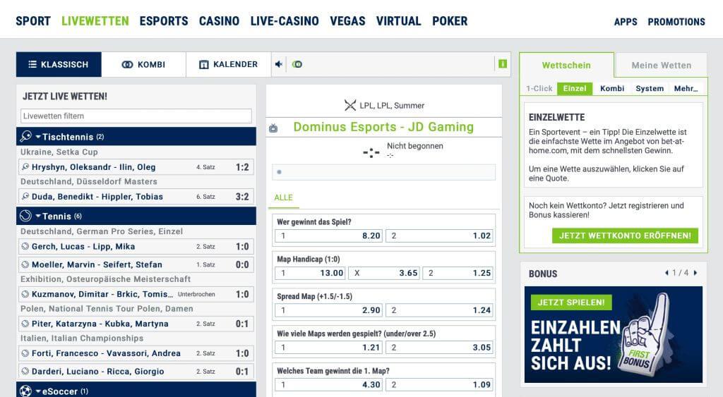 bet-at-home – Sportwetten-App