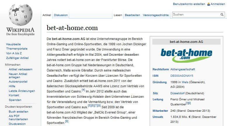 bet-at-home Bewertung – Der Buchmacher im Test