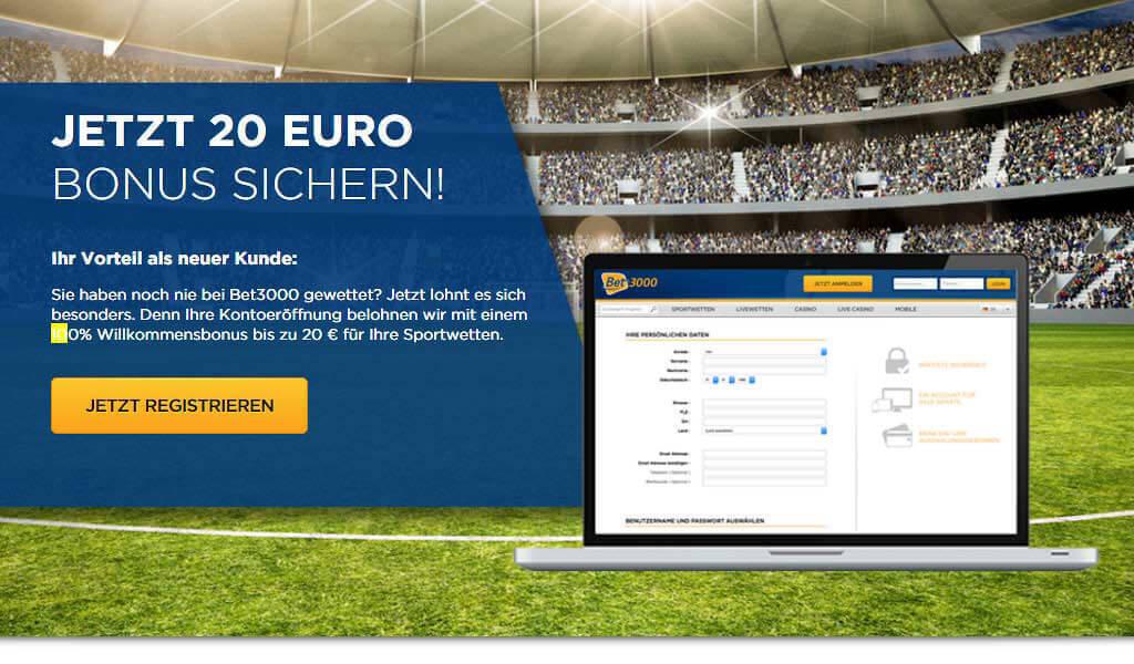 www.bet3000.com Sportwetten – Erfahrungen und Bewertung
