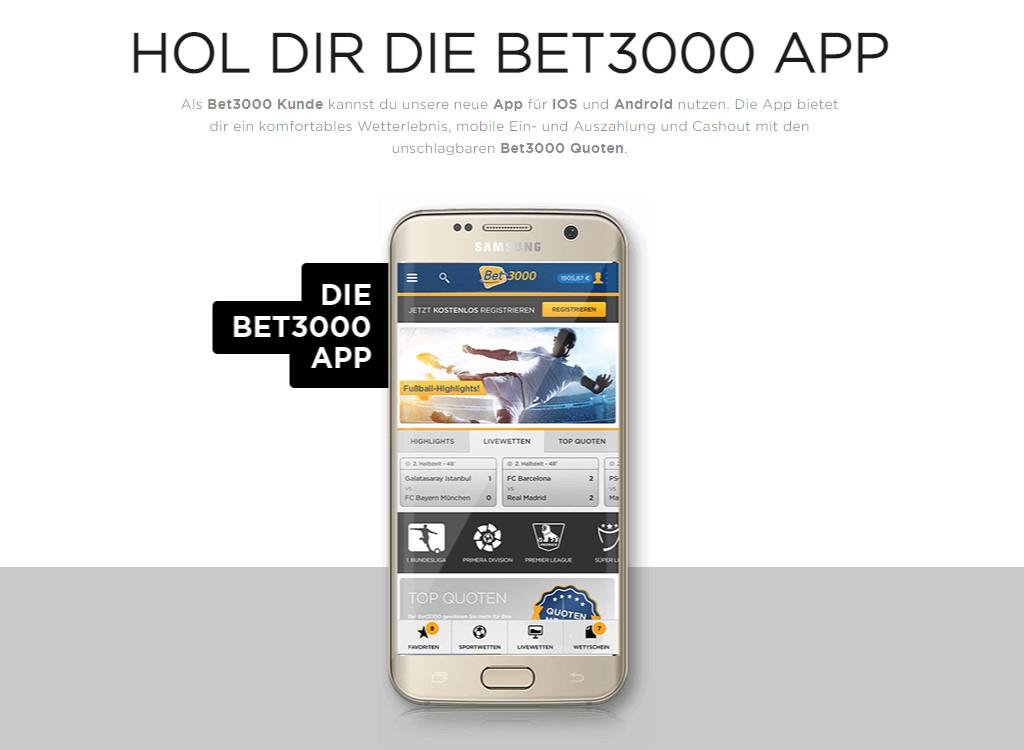 App von bet3000 im App Store