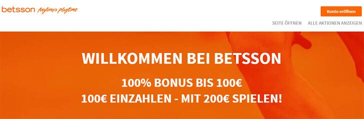 Betsson – die besten Infos zu Bonus, Bonusbedingungen, Gutschein und Gratiswette!