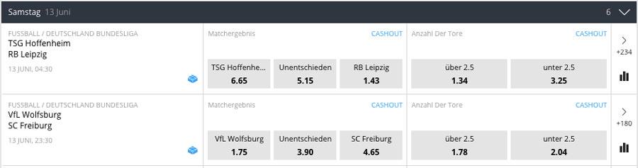 betsson Bundesliga Quoten