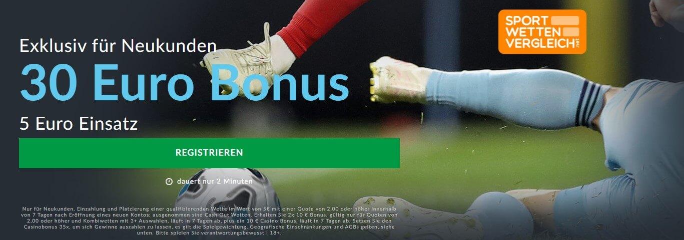 Exklusiver 30 Euro Bonus bei BetVictor – Sportwetten-App