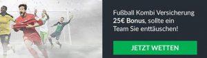 Wettbonus des Tages: Fußball-Kombi-Versicherung bei BetVictor