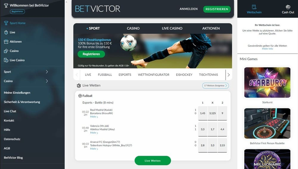 BetVictor Sportwetten Erfahrungen – Test & Bewertung 2021