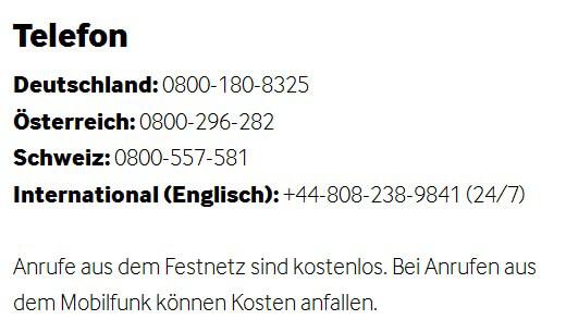 Der Telefonsupport bei Betway ist kostenlos!