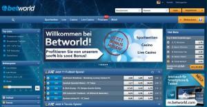 Betworld: Bonus und Bonusbedingungen