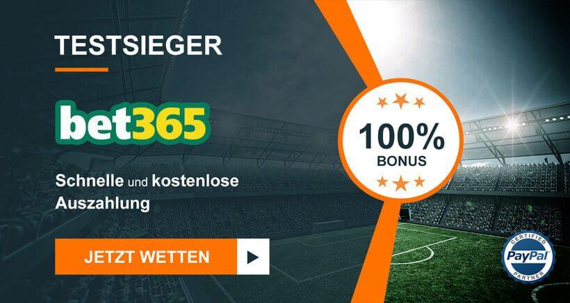 Bet365 Sieger bei Sportwettenvergleich.net