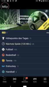 Btty App für iPhone, iPad und Android