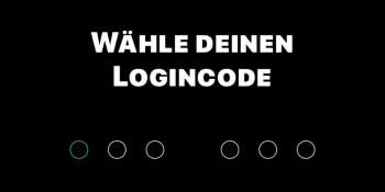 bunq – Logincode wählen